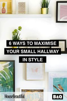 A small entrance hall doesn't need to be a dead space in your home. With some clever decorating tricks in your arsenal, even the most economically-sized hallway can make the best first impression! Created by House Beautiful for B&Q Small Entrance Halls, Entrance Hall Decor, Hallway Ideas Entrance Narrow, Modern Hallway, Hall Decorations, Small Hallway Decorating, Interior Decorating, Interior Designing, Interior Ideas