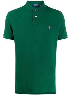 Green cotton embroidered logo polo shirt from Polo Ralph Lauren featuring a classic polo collar, a front button placket, a contrast embroidered logo at the chest and short sleeves. Polo Jeans, Polo Shirt, T Shirt, Polo Ralph Lauren, Camisa Polo, Green Cotton, Size Clothing, Front Button, Women Wear
