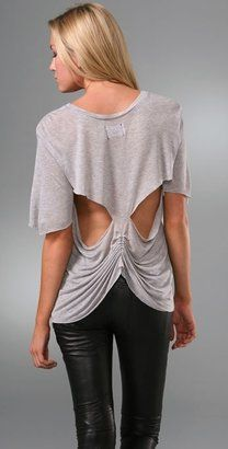ShopStyle: Sauce Open Back Tee