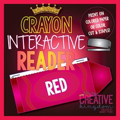 Red Crayon Interactive Reader (IR) - My Creative Kingdom