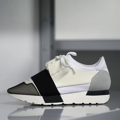 « The Race Runner by Balenciaga. Multi-material contrast effect sneakers available in stores worldwide.  #Balenciaga #Race #sneakers »