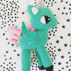 Unicorns flying with the stars.  We have restocked our @ladedahkids unicorns as well as the new collection.  #unicorn #crochettoys #magical #repost #kidstoys #kidsconceptstoreonline #shopmmg by minimodelgallery