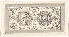 Bernard Picart | Penning met het portret van Karel de Stoute, Bernard Picart, 1718 | Penning met het portret van Karel de Stoute, hertog van Bourgondië. Op de andere zijde een ram. Met een ornamentele omlijsting.
