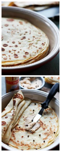 HOW TO MAKE THE PERFECT CREPES! Crepes with Coffee Mascarpone Cream Crepe Recipes, Brunch Recipes, Breakfast Recipes, Dessert Recipes, Mascarpone, Good Food, Yummy Food, Crepes Sucrées, Crepes Filling
