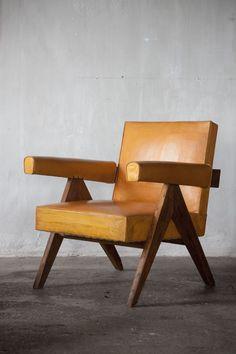 Pierre Jeanneret (1896-1967)    Fauteuil bas  Low armchair in teak, India, c.1955  H 80 cm x W 67 cm x D 67 cm