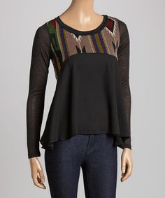 Love this Black & Gray Tribal Top on #zulily! #zulilyfinds