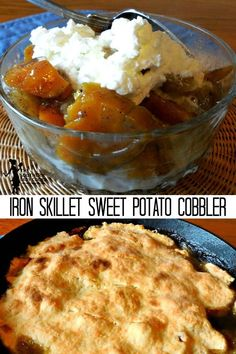 IRON SKILLET SWEET POTATO COBBLER - The Southern Lady Cooks