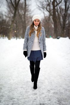 Winter style done right! The Girl From Panama looks amazing, even when bundled up!