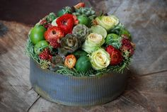 Cebolla Fine Flowers, Summer Flowers, Zinc Container, Rustic Flowers