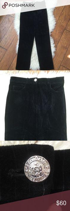 """ST JOHN Sport Pinstripe Soft Velvet Pants Trousers ST JOHN Sport by Marie Gray Faint Pinstripe Soft Black Velvet Pants Trousers.  Size S, inseam 31"""" St. John Sport by Marie Gray Pants"""
