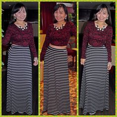 Top-forever 21,maxi skirt-forever 21,accessories-sm accessories