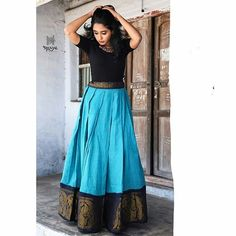 16 Super Stylish Jacket Blouse Designs & How to Style It Frock Fashion, Indian Fashion Dresses, Indian Gowns Dresses, Dress Indian Style, Indian Designer Outfits, Designer Dresses, Long Skirt Top Designs, Long Skirt And Top, Long Dress Design