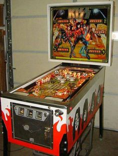 """KISS pinball machine (1978):  Not a """"mantique"""" in the truest sense, but a huge part of my early teens childhood,  great memories of spending hours (and a large chunk of my pocket money!) down at """"Steeleys"""" in Dapto."""