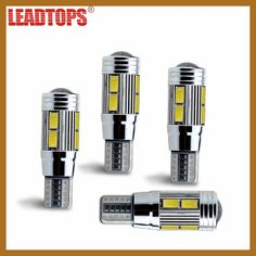 LEADTOPS 100pcs Car Styling Car Auto LED T10 194 W 5W Canbus 10 SMD 5730 LED Light Bulb No error Leds Parking T10 Side Light BE