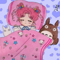 "My sweet Chibi is finally asleep, after endless My Little Pony conversations and lots of kisses/""I yuh (love) you""s. This Moonmama will be heading to bed soon as well. We heart you all so big time, and hope your dreams are magical. Xoxo- Noey and Chibi  #justnoeythings #chibichibi #sailorchibichibi #totoro #myneighbortotoro #studioghibli #sailormoon #moonie #moonies #magicalgirl #magicalgirls #kawaii #kawaiilife #kawaiithings #otaku #anime (art by SEIROTH on deviantart)"