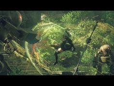 Swords, drones, giant robots, laser orbs and insane acrobatics make up the mainstay of our first look at the long-awaited Nier sequel. Hack And Slash, Ps4, Game Effect, Video Game Reviews, Video Game Industry, Aquarium, Video Games, E3 2016, Live
