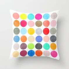Color Play 1 Throw Pillow by Garima Dhawan - $20.00