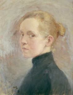 Self Portrait by Helene Schjerfbeck on Curiator, the world's biggest collaborative art collection. Helene Schjerfbeck, L'art Du Portrait, Portrait Paintings, Figurative Kunst, Digital Museum, Oeuvre D'art, Female Art, Painting & Drawing, Art History