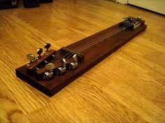 Click this image to show the full-size version. Music Instruments Diy, Homemade Instruments, Pedal Steel Guitar, Guitar Diy, Slide Guitar, Telecaster Guitar, Cigar Box Guitar, Guitar Building, Pedalboard