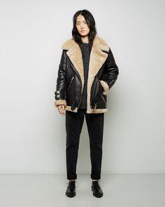 Acne Studios | Velocite Shearling Moto Jacket | La Garçonne