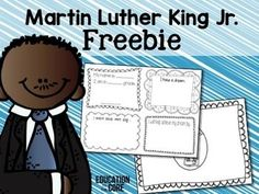 Martin Luther King Jr. Freebie! | by Education to the Core | $Free