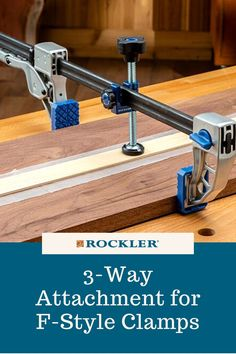 Find this and other new products on our website here! This product attaches to most F-style clamps to convert it to a 3-way clamp and is great for applying edging and flushing up joints. #CreateWithConfidence #NewAtRockler #NewProduct #3WayClamp #FStyleClamp Rockler Woodworking, Woodworking Hand Tools, Woodworking Furniture, Woodworking Shop, Mobiles, Box Joints, Steel Bar, Joinery, Carpentry