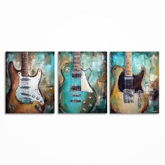 Guitar Painting Music Art Guitar art Gift for a by MagdaMagier
