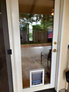 MaxSeal PRO In-Glass Pet Door from Security Boss Manufacturing In Glass Pet Door, Sliding Glass Door, Sliding Doors, Glass Doors, Tallest Dog, Back Doors, Dog Houses, Exterior Doors, Houses