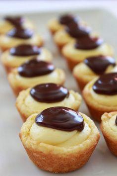 Boston Cream Pie Cookie Bites - Practically Homemade