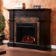 Middleton Convertible Slate Electric Fireplace