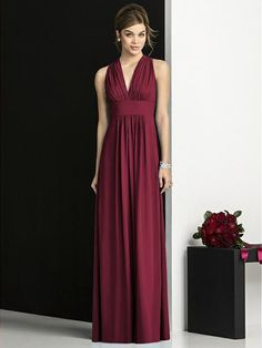 After Six Bridesmaids Style 6680 - Burgundy | The Dessy Group