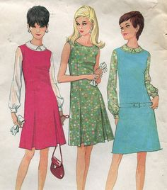 1960s Dress or Jumper Pattern McCalls 8770 Size by PengyPatterns