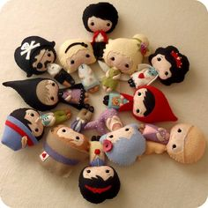 Fairy Tale Dolls pdf Patterns  Set of Twelve by Gingermelon, $60.00