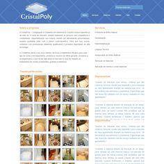 Desenvolvimento de site utilizando a plataforma WordPress para a CristalPoly, empresa de cristalização de mármores e granitos.