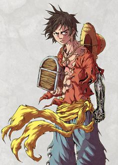 Interesting take on luffy, not really sure if I like it, mix of too many anime