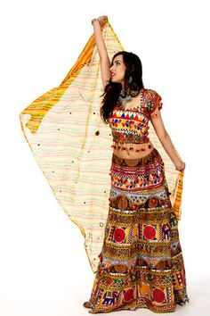 Funky Maiden - Yellow Chania Choli   Saris and Things
