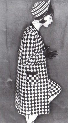 Folk weave tweed with home weave look by Mary Quant - 1964 Repinned by www.lecastingparisien.com