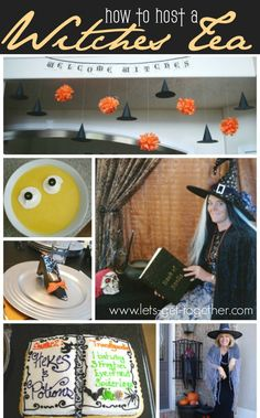 How To Host a Witches Tea from Let's Get Together - games, decor, free printable invitations. #party #halloweenfood #halloweendecor