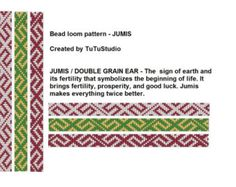 3 for 1 price - Bead loom pattern -JUMIS; Loom Beaded Bracelet Pattern; Bracelet With Faworable Strength And Protection Signs, Amulet