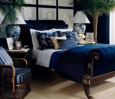 Ralph Lauren British Colonial bedroom, courtesy of Chinoiserie Chic