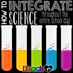 iTeach Fourth: 4th Grade Teaching Resources: How to Integrate Science throughout the School Day!