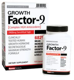 Increase HGH production by 682% naturally? Exact what Growth Factor-9 supplement claims within 120 minutes and it carries only amino acids compounds in the formulation blend. Find out more all about it here at my review ! #Growth-Factor-9  http://becomingalphamale.com/growth-factor-9-by-novex-biotech-ingredients-same-as-serovital