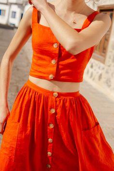 UO Emilia Button-Through Cami | Urban Outfitters | Women's | Tops | Camis & Tank Tops #UOEurope #UrbanOutfittersEU #UOonYou