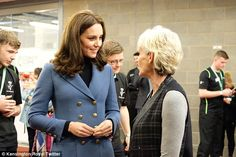 The Duchess was seen catching up with Judy Murray, who she previously met at a tennis event in Scotland