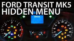 How to enter hidden menu in #Ford #Transit MK5 #service test mode #diagnostic #cars