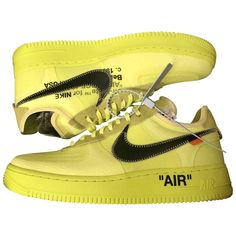 Nike x Off-White Trainers for Men Off White Trainers, White Air Force 1, Mellow Yellow, White Man, Nike Air Force, Men's Shoes, Sneakers Nike, Stuff To Buy, Fashion