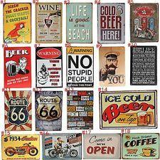 Metal Tin Sign halloween chillers Decor Bar Pub Home Vintage Retro