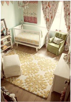 Love the soft colors in this nursery! 22 Baby Room Designs and Beautiful Nursery Decorating Ideas