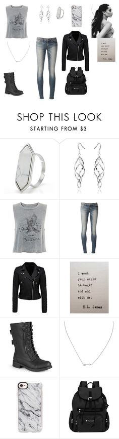 """Casual date: Hunter of Artemis"" by gracenerada ❤ liked on Polyvore featuring Lenny, rag & bone, Forever New, Journee Collection, Roberto Coin, Casetify and Sherpani"
