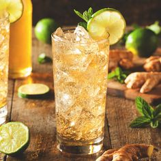 The Cherry Brass Buck is a delicious drink featuring Red Stag by Jim Beam® Bourbon and ginger ale.